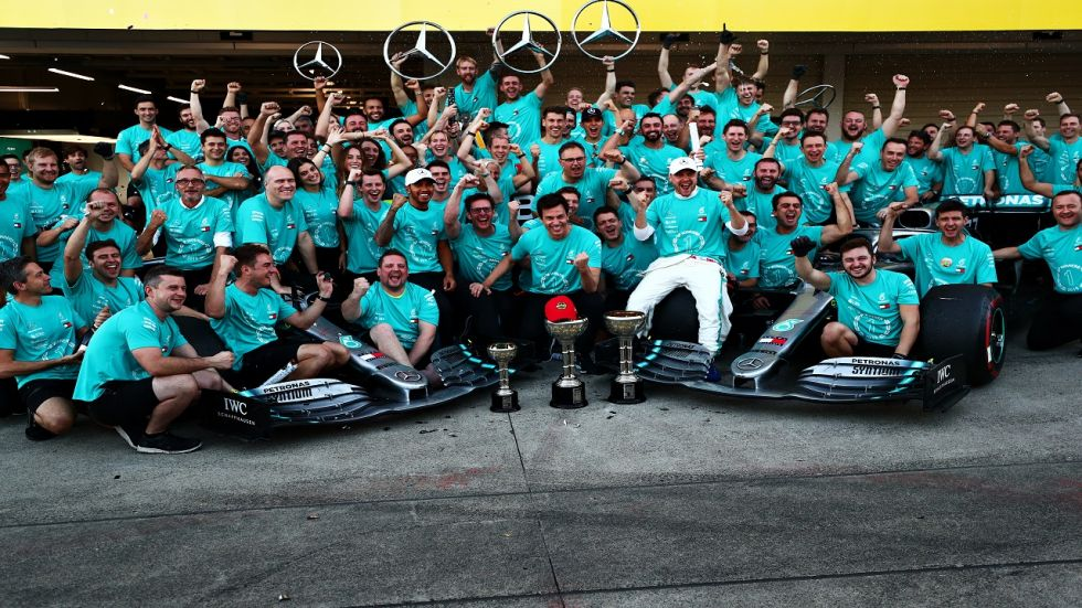 Valterri Bottas' first place and Lewis Hamilton's third spot in Japan Grand Prix ensured Mercedes won the title for the sixth consecutive time.