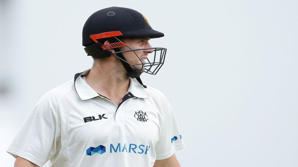 Mitchell Marsh has reportedly suffered a fractured hand after punching the wall of a dressing room during the Sheffield Shield match between Western Australia and Tasmania.