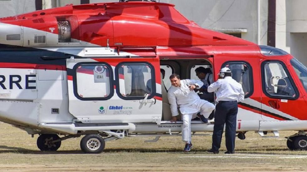 Rahul Gandhi later left for the national capital by road.