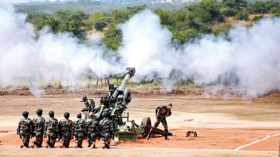 Indian army used artillery guns to target the terrorist camps