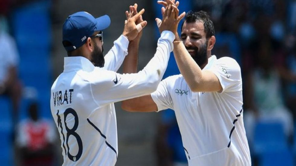 Bad light ended play early after Mohammed Shami and Umesh Yadav struck. Earlier, India declared at 497/9 against South Africa in Ranchi.