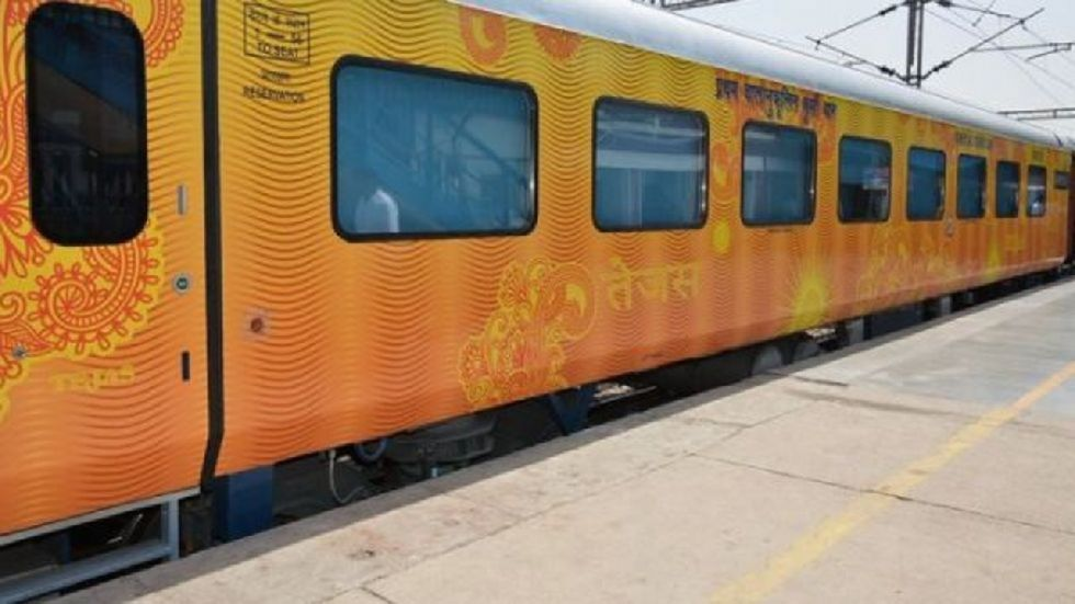 Tejas Express got delayed for about two hours in both the directions.