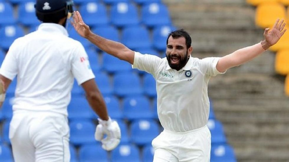 Mohammed Shami has taken three wickets as India are on top in the Ranchi Test against South Africa.