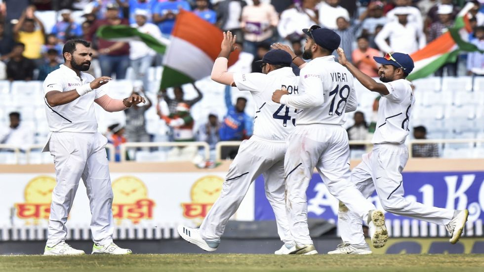 Virat Kohli's Indian cricket team defeated South Africa by an innings and 202 runs to achieve a 3-0 whitewash.
