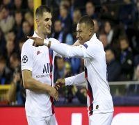 Kylian Mbappe Scores Hat-Trick, Paris Saint Germain Thrash Club Brugge In UEFA Champions League