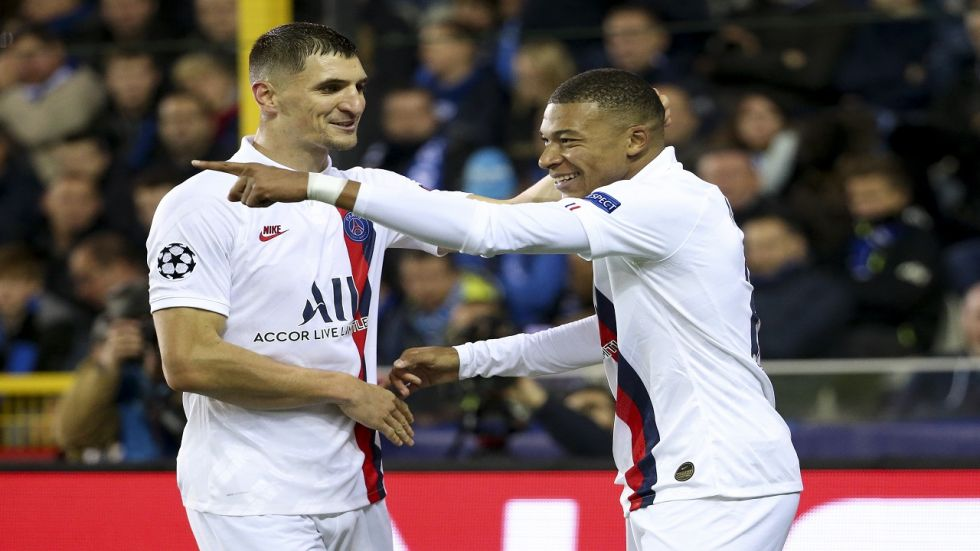 Kylian Mbappe scored three goals in 20 minutes to hand Club Brugge their first defeat in their UEFA Champions League clash against Paris Saint Germain.