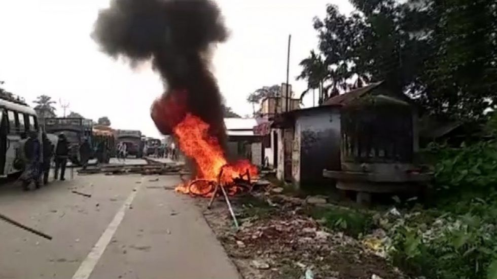 Offices of both the BJP, TMC in the area were vandalised and set ablaze.