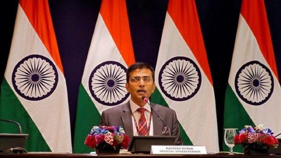 External Affairs Ministry Spokesperson Raveesh Kumar.