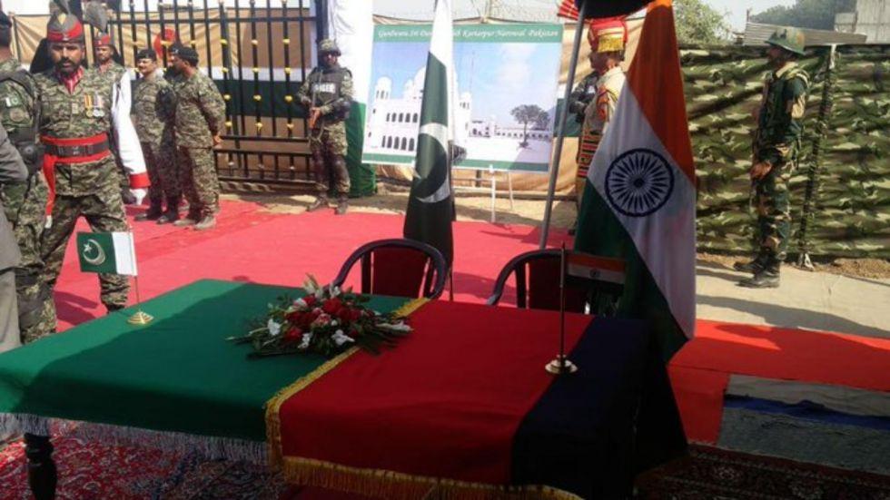 India, Pakistan sign Kartarpur corridor agreement at 'zero line' near Dera Baba Nanak in Gurdaspur