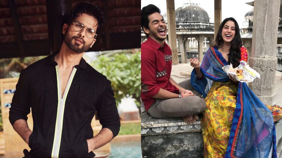 Shahid Kapoor gives relationship advice to Ishaan and Janhvi.
