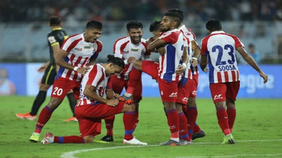Hyderabad FC were inducted in place of Pune FC but they were thrashed 0-5 by ATK.