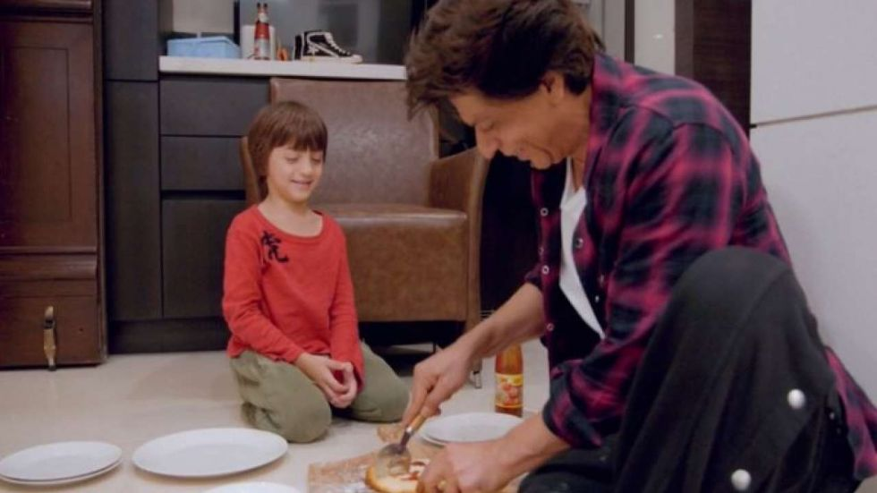 AbRam And Shah Rukh Khan In A Still From David Letterman's 'My Next Guest'