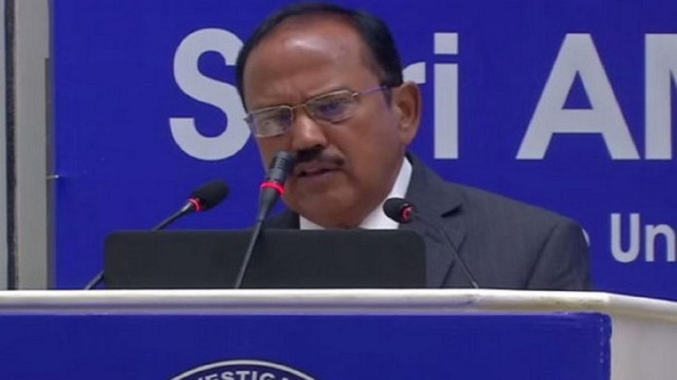 NSA Ajit Doval also briefed MEPs, who are from nine countries, on cross-border terrorism emanating from Pakistan.