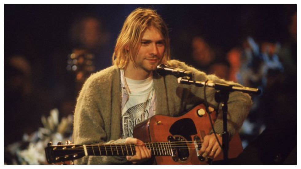 Kurt Cobain wore the sweater back in 1993 at an MTV' Unplugged' performance