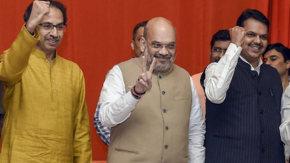 The BJP and the Shiv Sena are locked in a battle over sharing of power in the next government in Maharashtra.