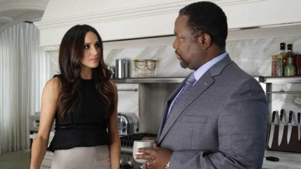 Meghan Markle and Wendell Pierce.