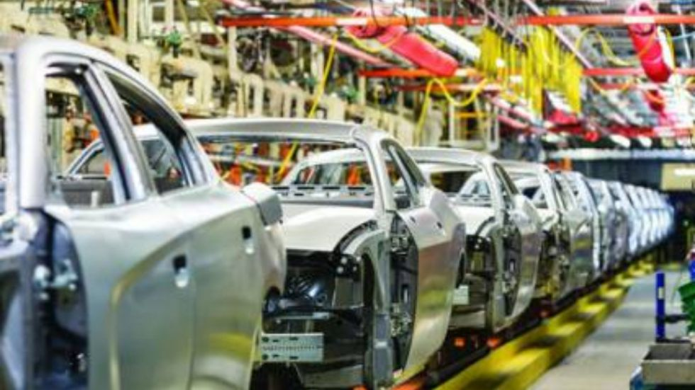 The move exposes a split in the industry, putting the trio of manufacturers at odds against other leading auto companies that have backed California's tougher regulations.