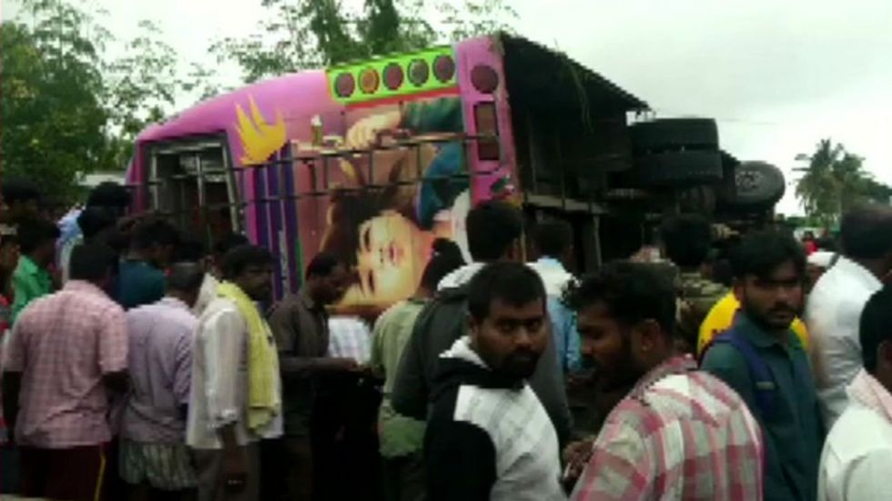 The accident took place near near Koratagere in Karnataka's Tumkur