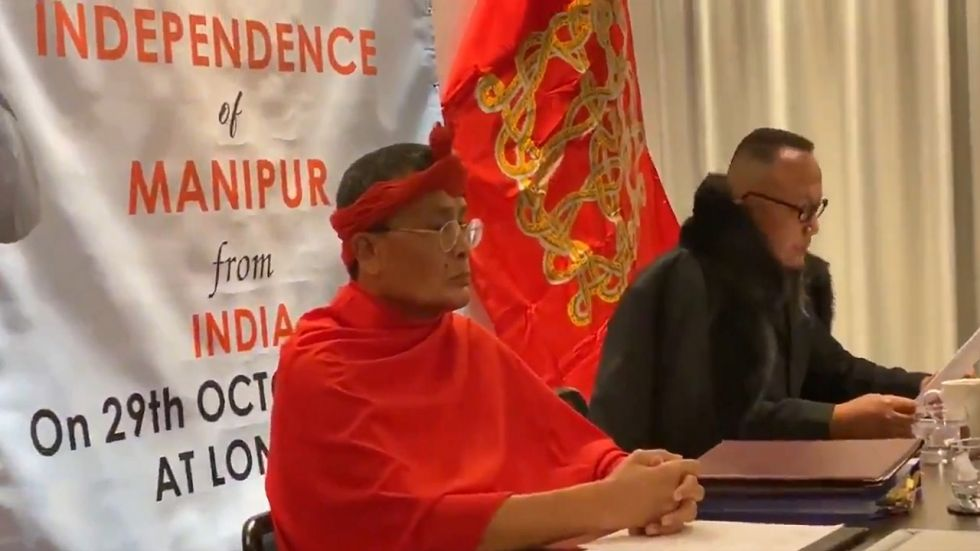 "Dissident leaders Yambem Biren and Narengbam Samarjit Singh announced ""Manipur government-in-exile""."