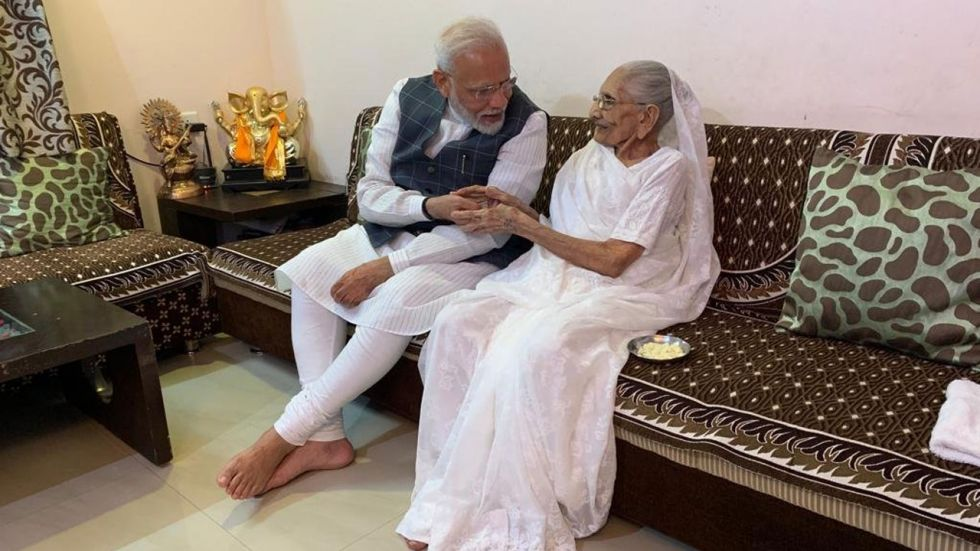 This is PM Modi's second meeting with his mother after winning Lok Sabha Elections earlier this year.