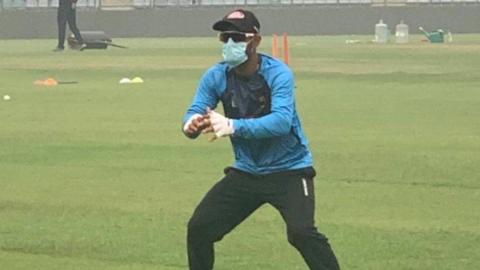 Liton Das during during practice ahead of India vs Bangladesh T20I match