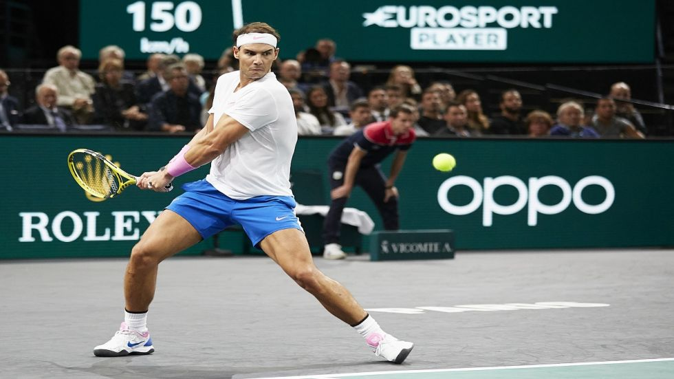 Rafael Nadal made it his seventh Paris Masters quarter-final in as many appearances.