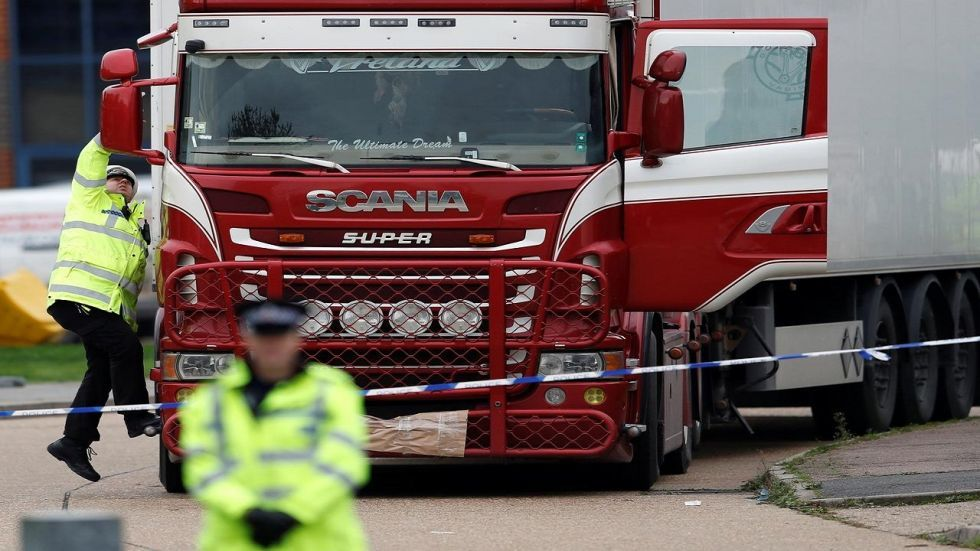 The discovery came after 39 people, all believed to be Vietnamese nationals, were found dead in a refrigerated truck in Britain last month, laying bare again the risks of illegal migrant routes to Europe.