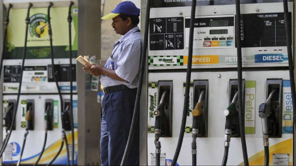 Petrol prices came down on Sunday