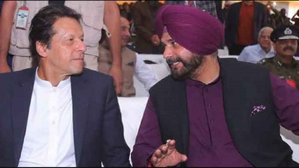 Navjot Singh Sidhu and Imran Khan.