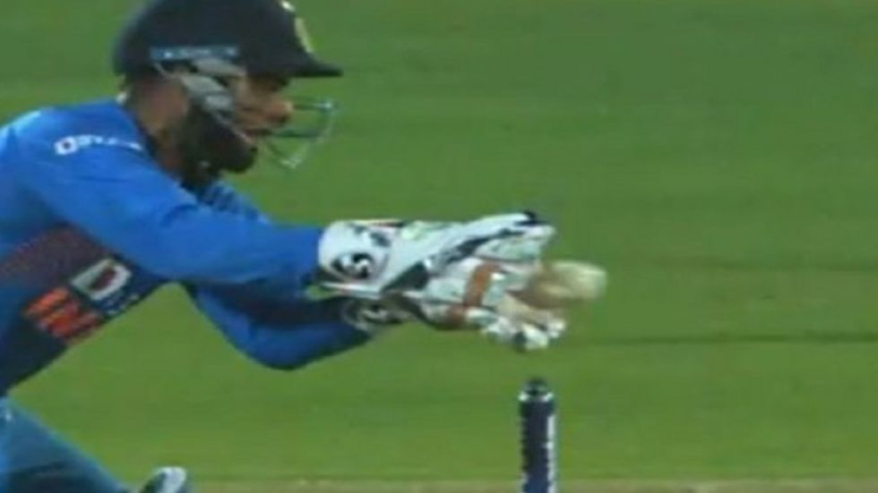 Rishabh Pant missed a simple stumping in controversial circumstances during the Rajkot T20I between India and Bangladesh.