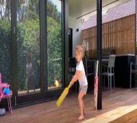 'I Am Like Virat Kohli' - David Warner's Daughter Wows The Internet With Her Cricket