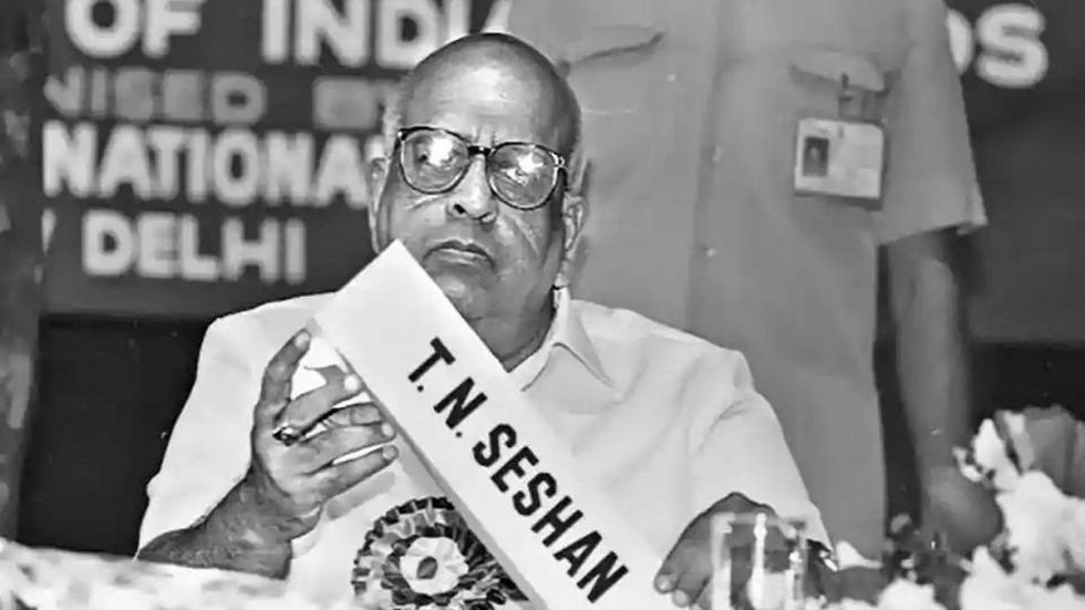 Known for his tough and straight talk, TN Seshan once said he will tend the 'garden in his house' following retirement.