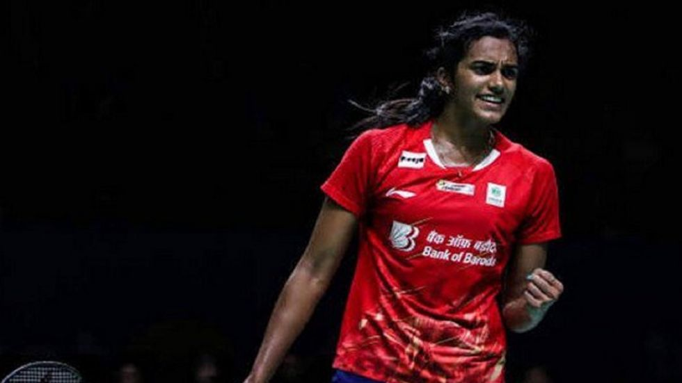 PV Sindhu has progressed to the next round with a win over world no 19 Kim Ga Eun of Korea 21-15 21-16.