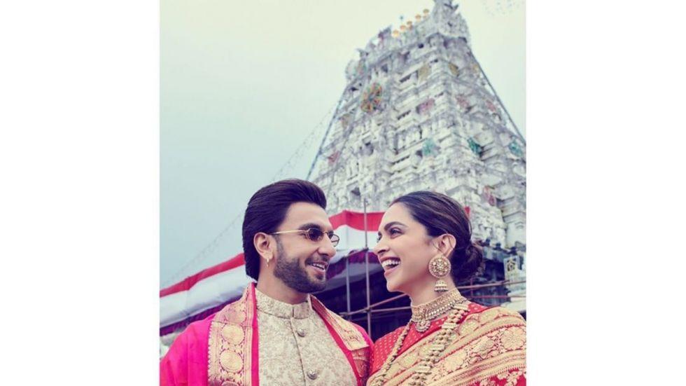 Deepika And Ranveer Seek Blessing of Lord Venkateswarara For 1st Wedding Anniversary