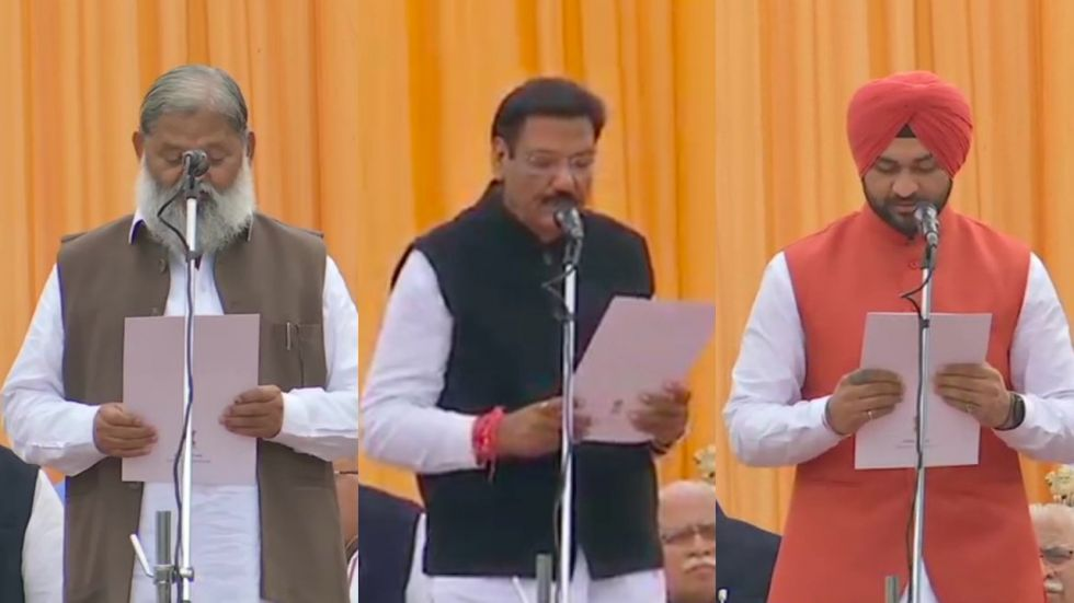 Manohar Lal Khattar added ten new ministers in the first cabinet expansion