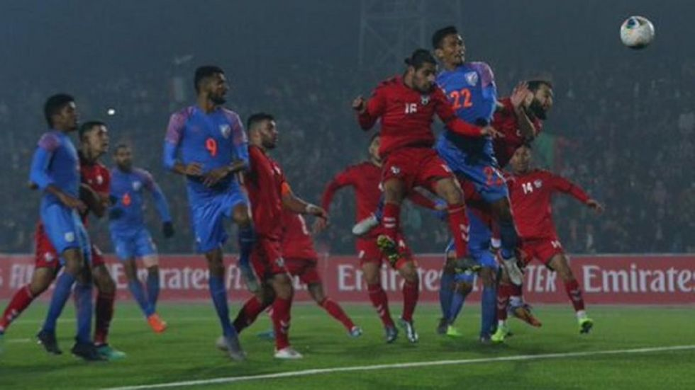 India, ranked 106 in the FIFA rankings, remained at the fourth position in Group E with three points from four matches, while Afghanistan continued to be on the third with four points.