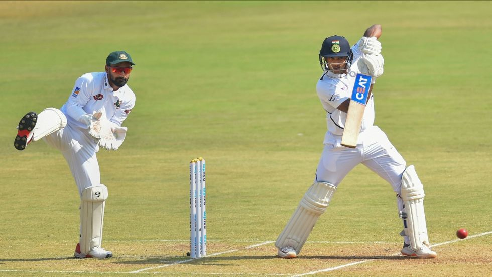 Mayank Agarwal blasted 243 as India lead by 343 runs at the end of day 2 of the Indore Test against Bangladesh.