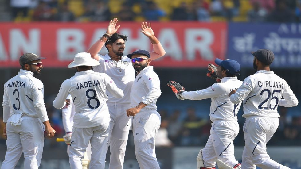 India's bowlers put up a fabulous show as they thrashed Bangladesh by an innings and 130 runs in the first Test at the Holkar stadium in Indore