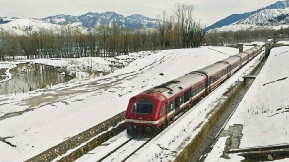 Two trial runs on Srinagar-Banihal railway line were conducted successfully on Saturday