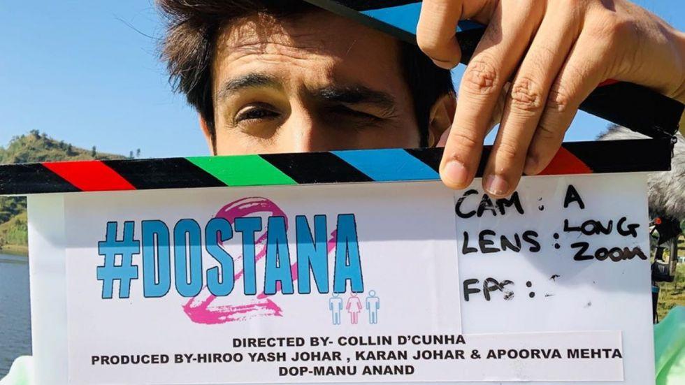 Kartik Aaryan is shooting for Dostana 2 in Chandigarh.