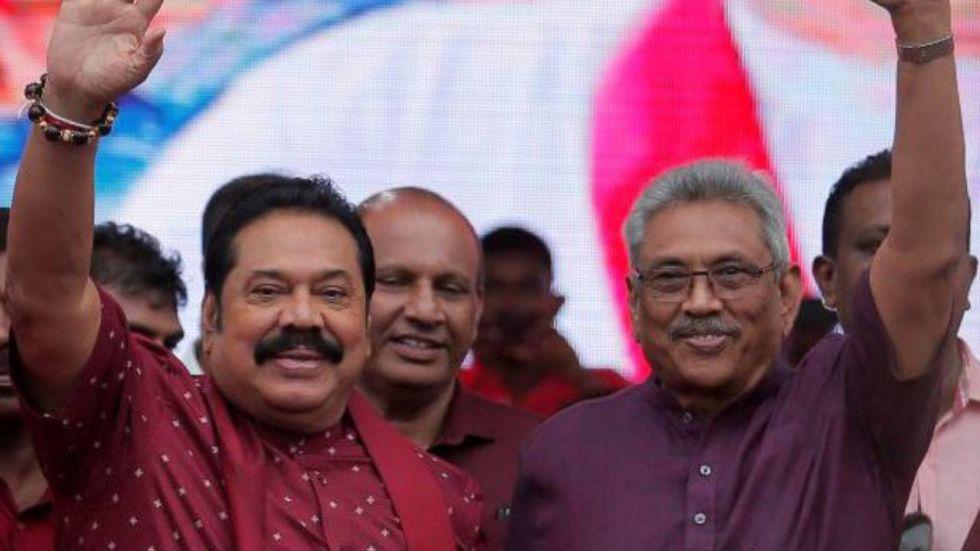 Gotabaya Rajapaksa is expected to appoint Mahinda Rajapaksa (left) as his prime minister