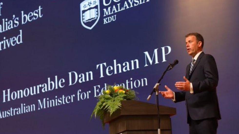 Dan Tehan will be meeting India's Human Resource Development Minister Ramesh Pokhriyal.
