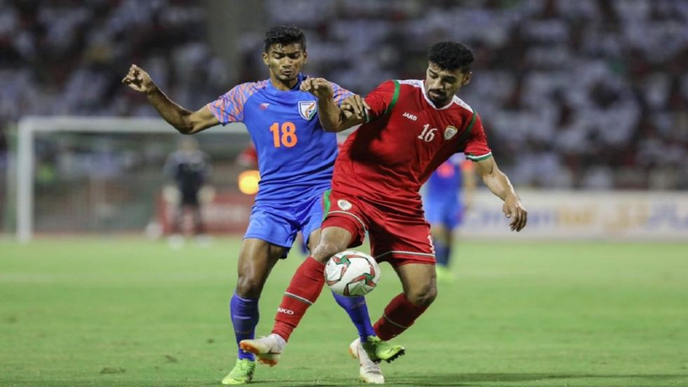 India virtually knocked out of football World Cup qualifying round after losing 0-1 to Oman