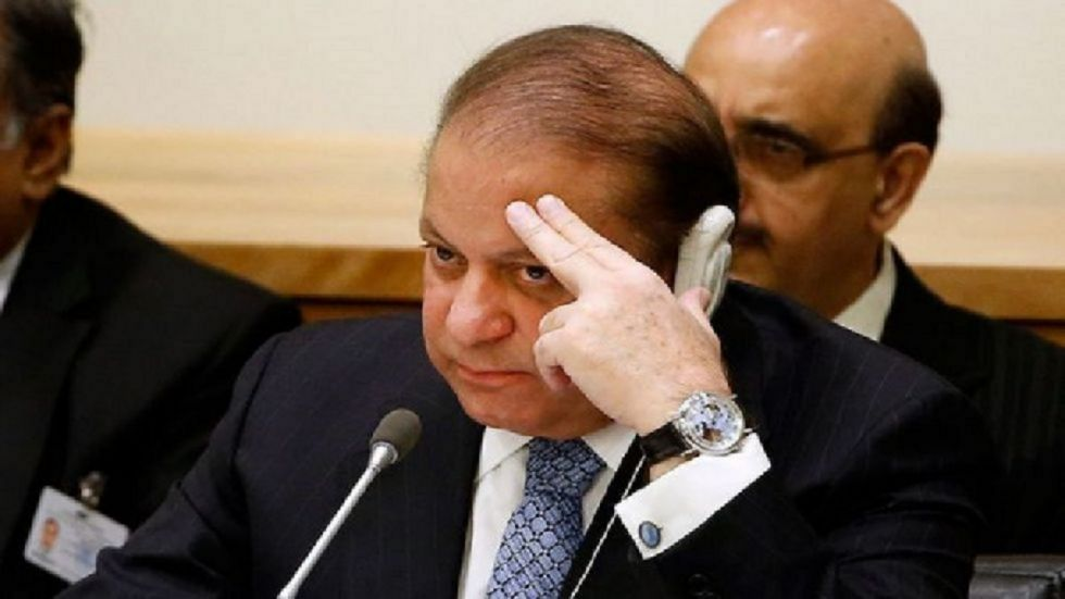 The ailing ex-PM left in an air aimbulance from Lahore.