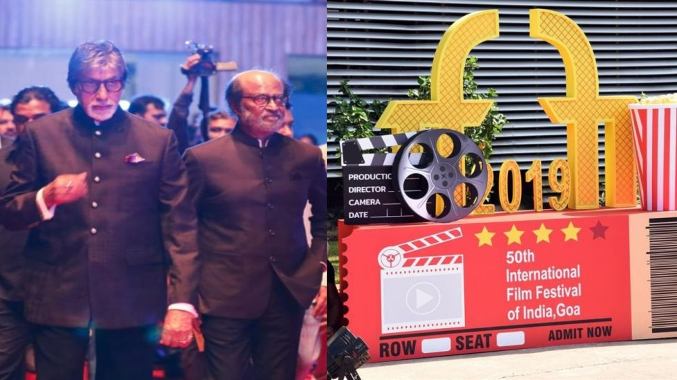 50th Year Of IFFI Starts With Amitabh Bachchan And Rajinikanth Lightning The Lamp