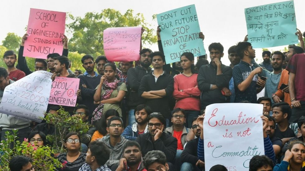 JNU Visually Challenged Students' Forum has called for a demonstration against the