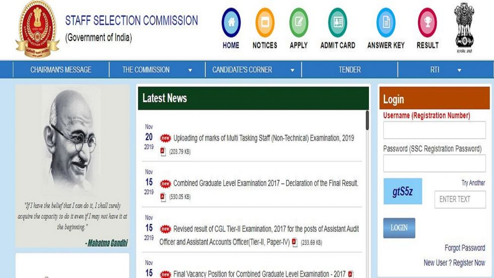 SSC MTS (Non-Technical) Exam 2019 Marks of Paper I Released, Check At ssc.nic.in