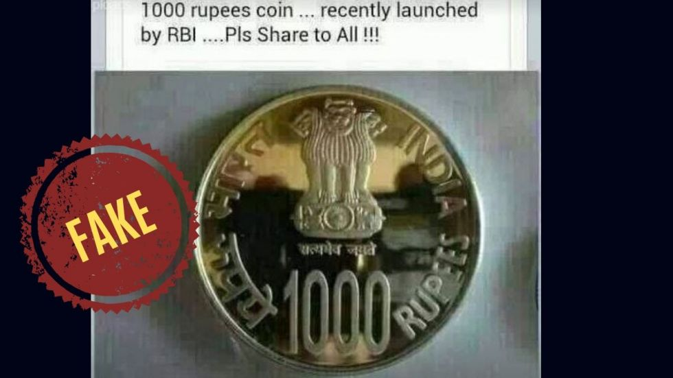 News Nation also found a Facebook post claiming the launch of Rs 1,000 coin.