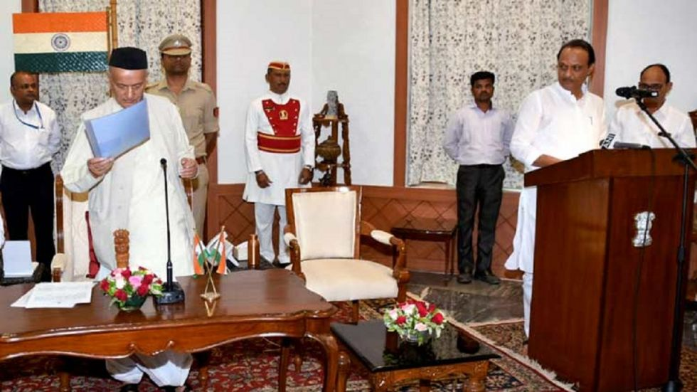 Ajit Pawar took oath as deputy of Devendra Fadnavis who sworn in as chief minister for a second term.