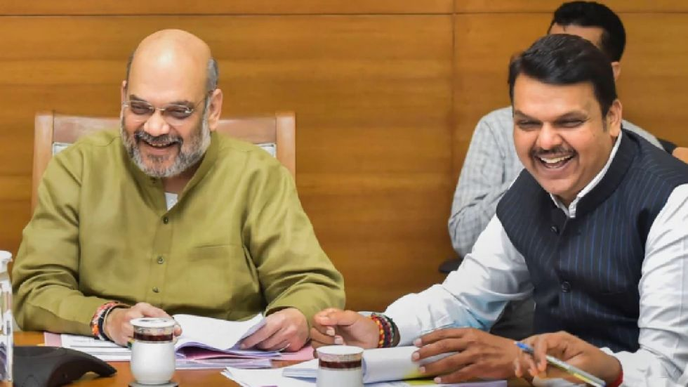 Amit Shah on Saturday congratulated Devendra Fadnavis and Ajit Pawar for taking oath as chief minister and deputy chief minister of Maharashtra.